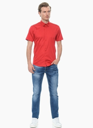 NetWork Kısa Kollu Gömlek Kırmızı